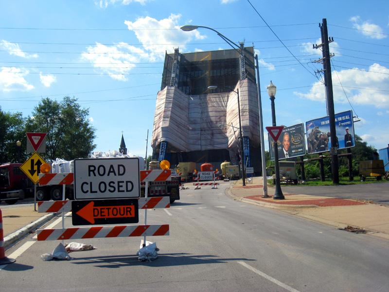 Ruby Street Bridge Detour Along Route 66 In Joliet Il