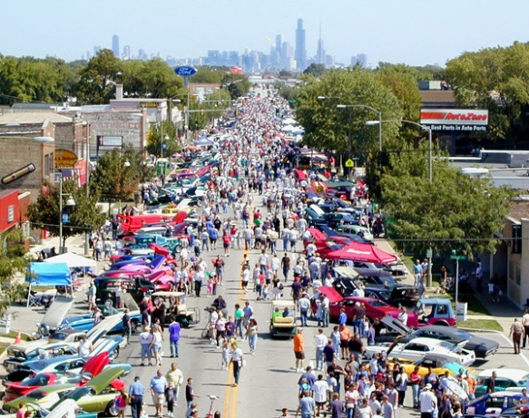 The annual Berwyn Route 66 Car Show along Ogden Avenue