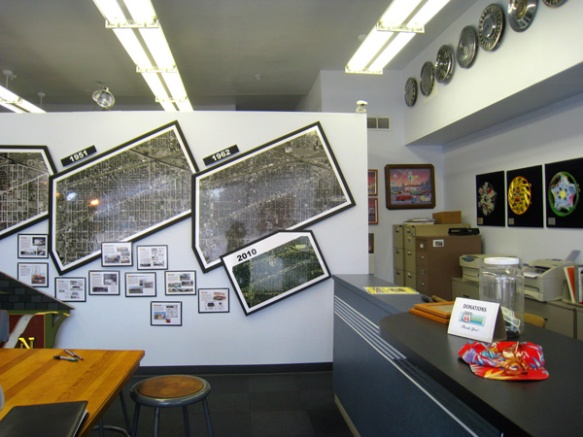 Interior, Berwyn Route 66 Museum  (photo copyright 2012 by M.R. Traska)