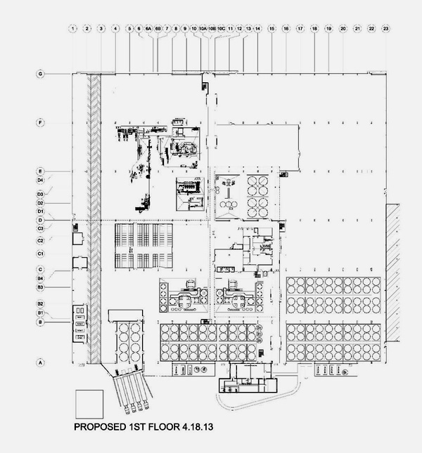 Lagunitas chicago brewery 1st floor plan blog the for Brewery floor plan