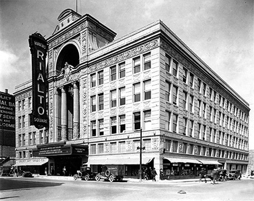 The Rialto Square Theatre at the time of its opening in 1926.