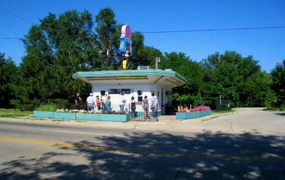 The historic Rich & Creamy ice cream stand on Broadway St. is an official Route 66 Historic Attraction in Joliet.   Photo copyright 2012 by M.R. Traska; all rights reserved