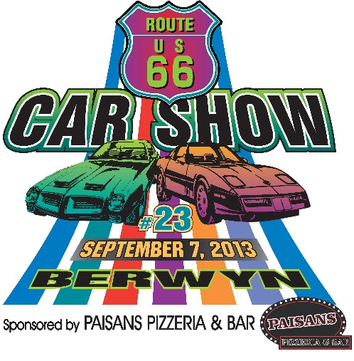 Berwyn Route 66 Car show promo graphic
