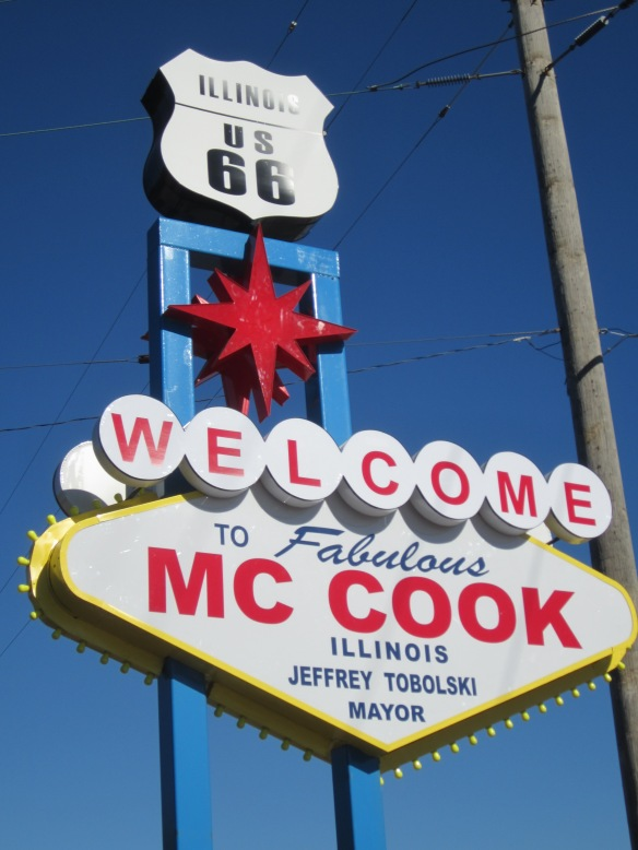 New McCook route 66 welcome sign - we've seen this before, right?  Photo copyright 2013 by J.D. Kubal; all rights reserved.