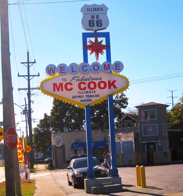 McCook's new sign is right where the old Snuffy's sign used to be at the new Steak N Egger on Route 66.  Photo copyright 2013 by J.D. Kubal; all rights reserved.