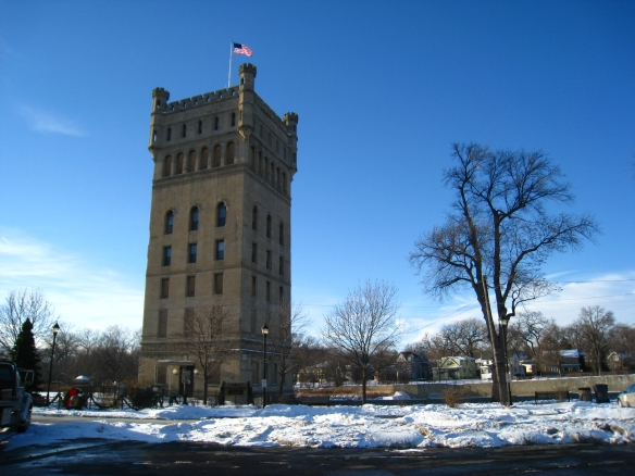 Hofmann Tower in Lyons, IL; photo copyright 2014 by M.R. Traska.  All rights reserved.