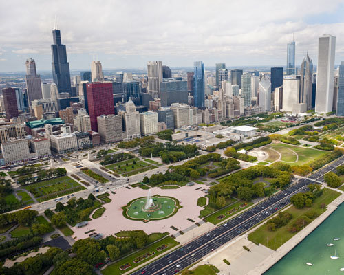 A beatiful view of Grant Park from last summer (photo courtesy of ChooseChicago.com)