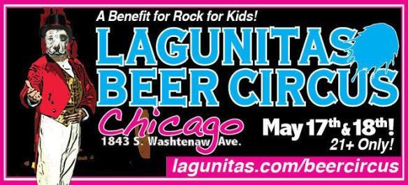 Lagunitas beer circus poster - large