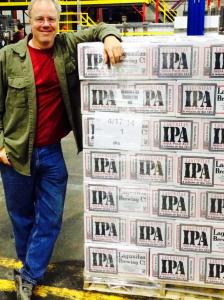 CEO Tony Magee with the first pallet of Lagunitas-Chicago's IPA for shipment (photo courtesy of Lagunitas Brewing Co. and Tony Magee)