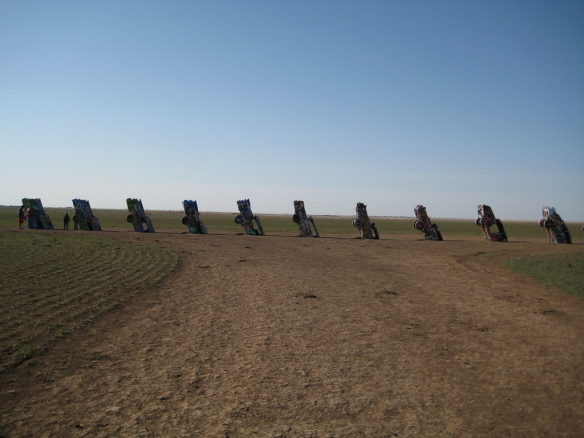 Cadillac Ranch - distance shot (via Wikipedia)