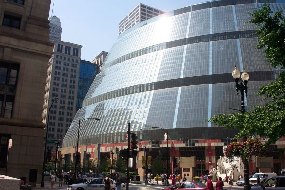 The James R. Thompson Center in Chicago  (Photo courtest of the Illinois State Museum website)