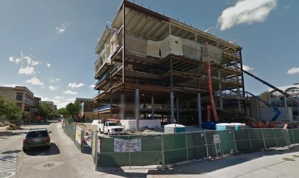 JJC city center building under construction, Sept 2013 - blog (Google street view)