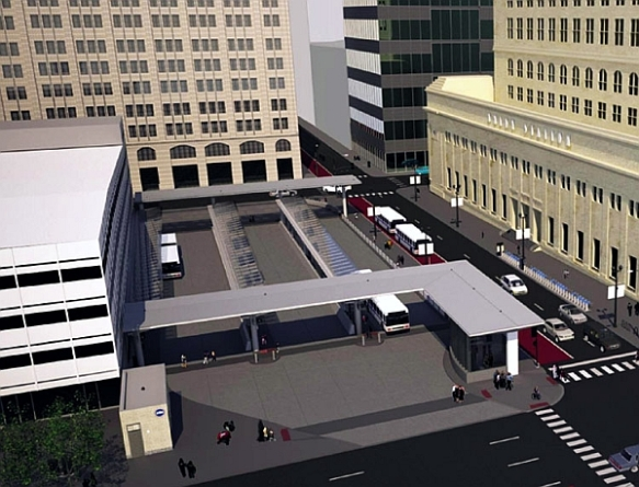 The Jackson Boulevard (Route 66) bus depot near Chicago's Union Station will make it easier for both locals and visitors to find the right line to wherever they're going.