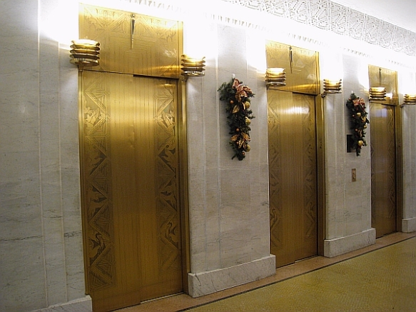 Willliam Drummond's revamped first-floor elevator lobby