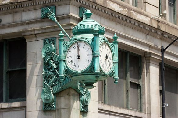 The Great Clock at Marshall Field's, State and Randolph, Chicago