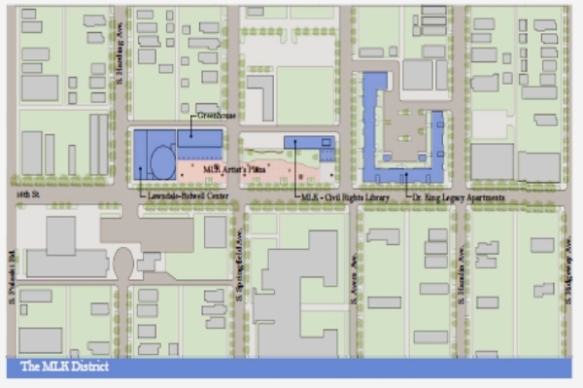 Map of proposed MLK Historic District on 16th Street