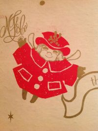 Uncle Mistletoe on a Marshall Field's gift box