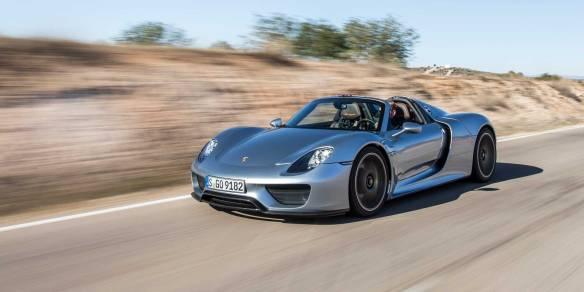 2015 Porsche 918 Spyder on the road