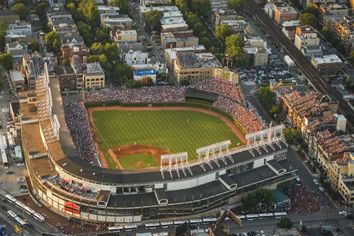 Today's Wrigley Field, originally built and known as Weeghman Park (Photo courtesy of the City of Chicago via Choose Chicago blog)