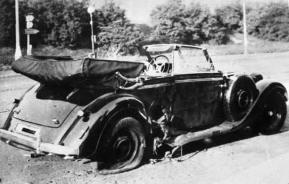 Heydrich's damaged car
