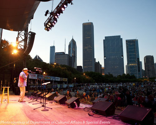 Chicago Blues Festival at Petrillo band shell (City of Chicago DCASE)