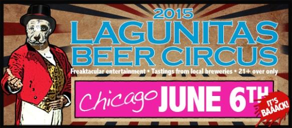 Lagunitas-Chi beer circus poster 2015