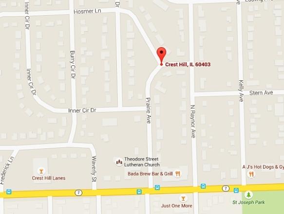 Lidice - Crest Hill map - blog