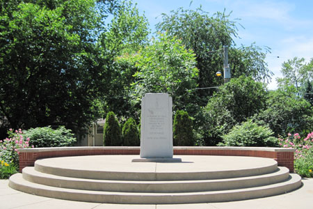 Lidice memorial, Lidice Park (photo courtesy of the City of Crest Hill, IL)