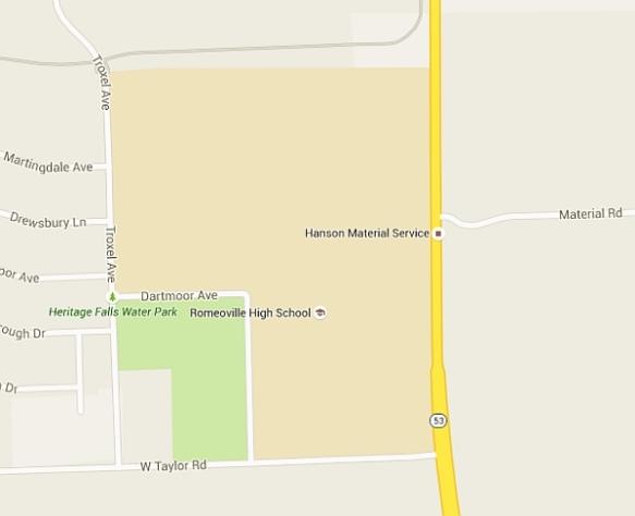 Romeoville High School - Google map