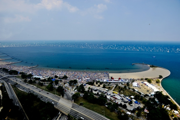 North Avenue Beach during the Chicago Air & Water Show  (Photo courtesy of City of Chicago)