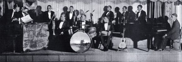 Louis Armstrong and his Stompers in 1927, including Earl 'Fatha' Hines on piano (photo courtesy of Wikimedia Commons)