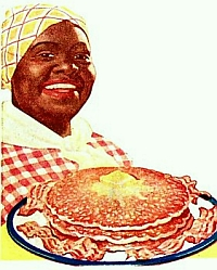 Nancy Green as Aunt Jemima in a color advertisement