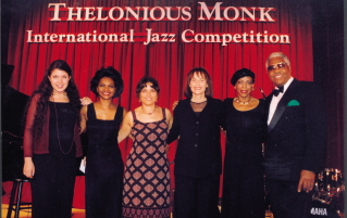 At the 1998 Monk vocal competition; Teri Thornton is second from the right.