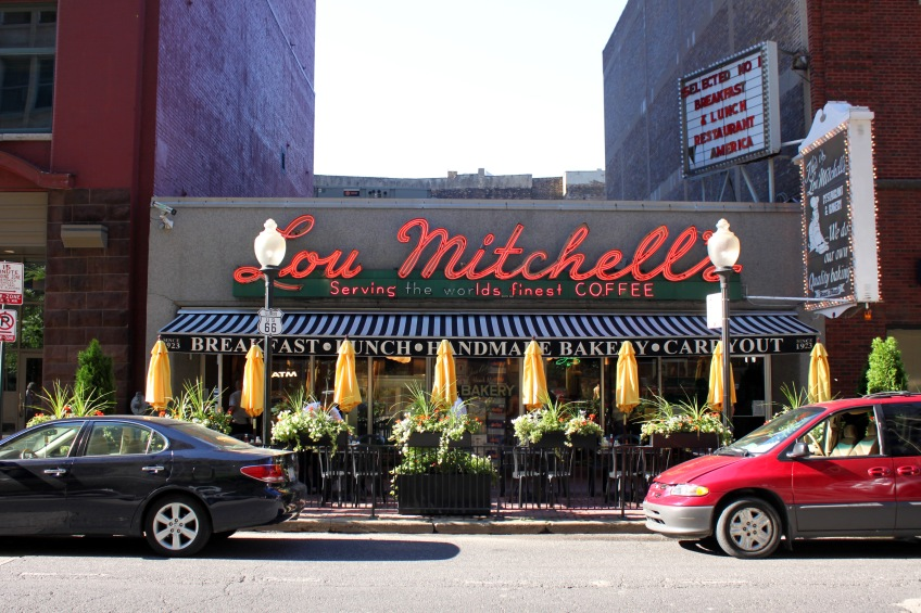 Lou Mitchell's Restaurant on Jackson Boulevard (Photo copyright 2012 by Keith Yearman; all rights reserved)